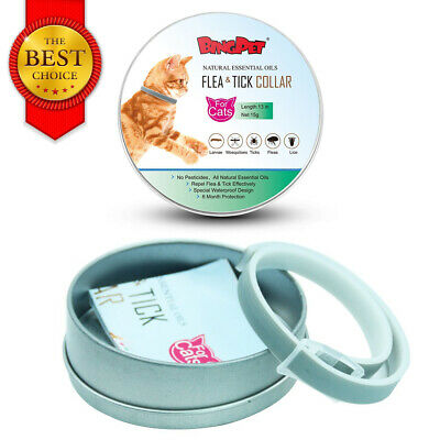 Flea and Tick Collar Protection Adjustable for Dogs Cat Best Natural Treatment