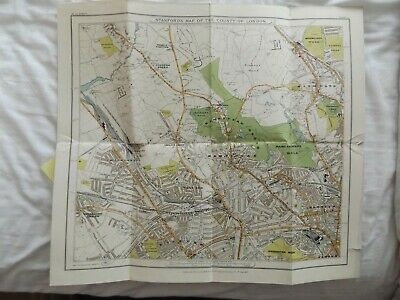 Stanfords Map Of The County Of London Sheet 2 Hampstead 1907 Paperback