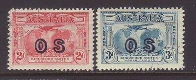 Kingsford Smith 2d & 3d Overprinted OS CTO with gum