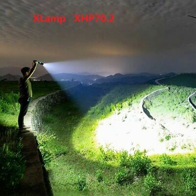 90000 Lumens Xlamp Xhp70.2 Powerful Led Flashlight USB Zoom Torch Rechargeable