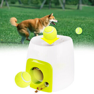 Automatic Interactive Ball Tennis Launcher Dog Pet Toys Training/feeding Game