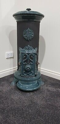 Rare Godin Potbelly Stove - Cast Iron French Colonial Antique Fireplace