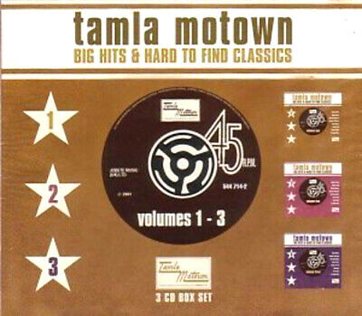 Tamla Motown ~ Big Hits And Hard to Find Classics Volume 1 ~ 3 NEW 3CD R&B, SOUL