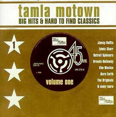 Tamla Motown ~ Big Hits And Hard to Find Classics Volume One NEW CD Soul Music.