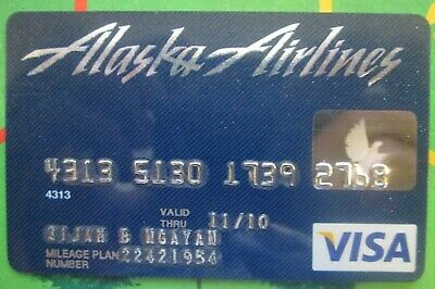 ALASKA AIRLINES VISA Bank Credit Charge Card EXPIRED For Collectors Lot 61