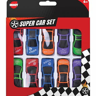 10 X Enfants Mini Plastique Jouet Sports Modèle Cars Interchangeable Racers Set