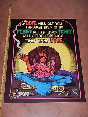 Original 1971 Joe Petagno Iii Blacklight Poster - Dope Will Get You Through