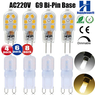 8pcs G9 3W AC220V LED Dimmable Ampoule Remplacer Halogen Lampe Chaud/Froid Blanc