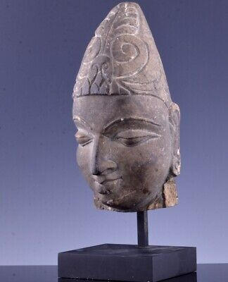 Superbly Carved Early Chinese South East Asian Limestone Buddha Head Bust Figure