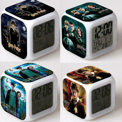 AU Stock Alarm Clock Harry Potter Hermione 7-Color Changing Alarm Clock in Box