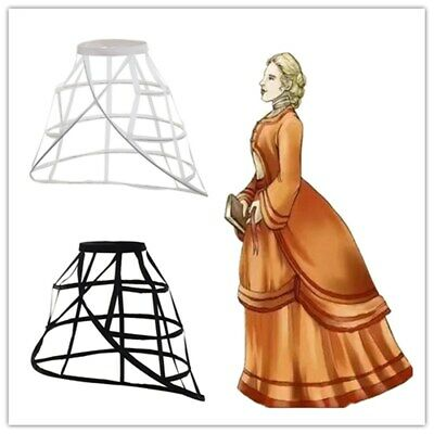 Victorian Dress Crinoline Hoops Cage Gown Costume Cage Pannier Petticoat Bustle