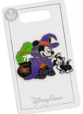 Disney Parks 2019 Halloween Minnie Mouse Witch & Figaro Trading Pin NEW