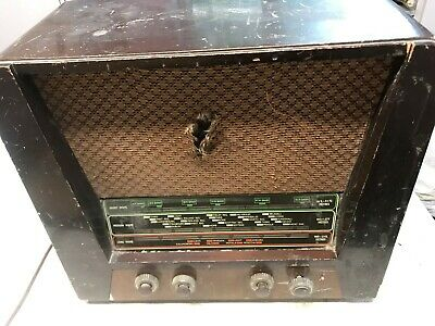 Vintage Valve Radio,Marconi T38A,c.1954,Reasonable Cond,As Found,Working,No Back