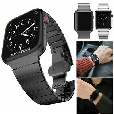 Metal Steel Link Watch Band Strap for Apple Watch Series 1 2 3 4 38/40/42/44mm