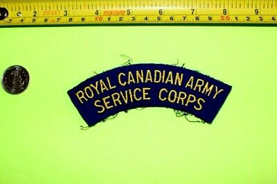 Vintage ~ Royal Canadian Army Service Corps ~ Authentic Sew On Patch