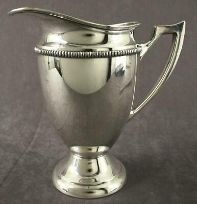 "Vintage Silverplate Metalware Water Pitcher SHEETS ROCKFORD 465 8.5"" Tall"