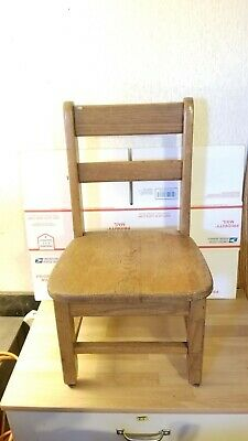 Vintage Solid Oak Childs School, Church Chair. Very  Sturdy