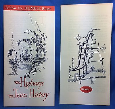 1930s HUMBLE GAS & OIL Travel Folders TEXAS Highways & Rio Grande Vintage Orignl