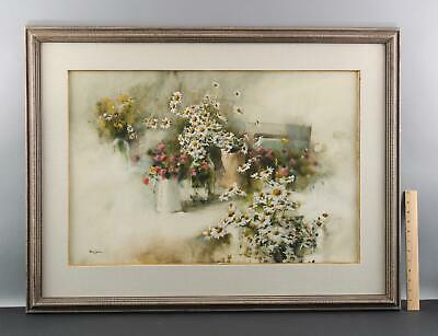 Authentic PHILIP JAMISON Wild Flower Floral Stillife Watercolor Painting