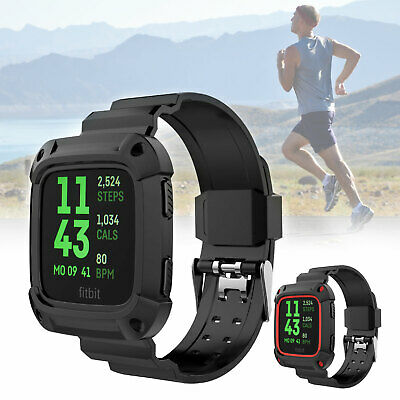 US For Fitbit Versa Replacement Silicone Bracelet Wrist Watch Band Sport Strap