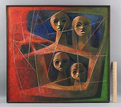 Authentic SOONPONGSRI KAMCHORN Thailand Abstract Surreal Figures Oil Painting