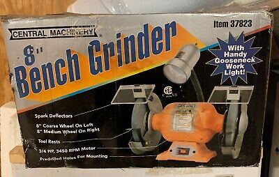 Magnificent Central Machinery Harbor Freight 8 Bench Grinder 37823 Creativecarmelina Interior Chair Design Creativecarmelinacom