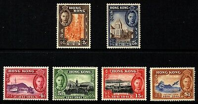 Hong Kong Scott 168-73,SG163-68  KGVI Stamp Centenary Mint Lightly H.