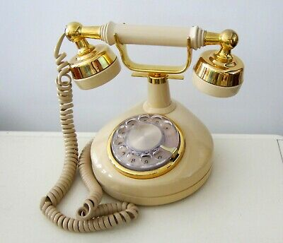 VINTAGE WESTERN ELECTRIC Phone FRENCH PRINCESS Brass Rotary Dial Desk Phone