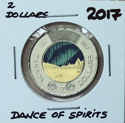 2017 ~ 2 dollar DANCE OF THE SPIRITS ~from RCM roll BU/UNC ~ Glow in the dark!!!