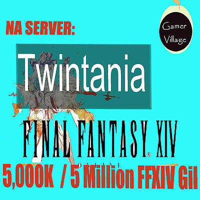 5000K / 5 MILLION FINAL FANTASY XIV FFXIV FF14 GIL NA Server NA Twintania