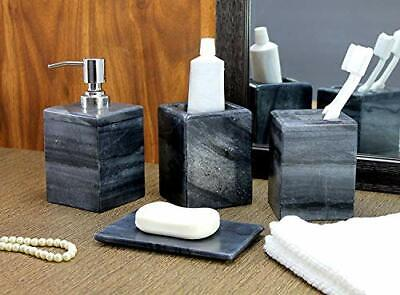 KLEO luxury 4 piece bath accessory set | includes liquid soap or lotion