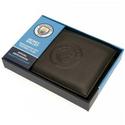 Manchester City F.C. RFID Anti Fraud Wallet ( Real Leather ) De-bossed Crest SC