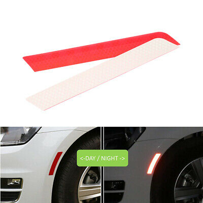 2x Red Reflective Safety Warning Car Trim Rear Wheel Decal Tape Sticker Strips
