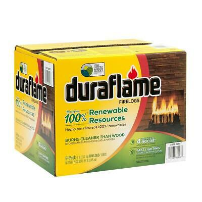 Fire Logs Duraflame Lights Faster 9 X 2.72Kg Fireplaces Robust Flames Up To 4Hrs