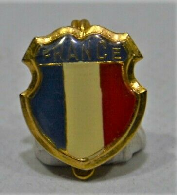 Broche (No Pins) Blason Ancien France Drapeau Tricolore Resine 1.5X1.5 Cm