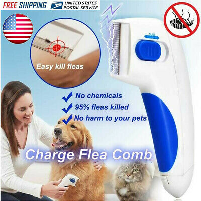 US Love Pets Dog & Cats Electronic Fur Flea Comb for Kills Stuns Flea Doctor