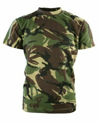 Kids DPM Camo T-Shirt Army Camouflage T-shirt BNWT army cadets Size 12-13