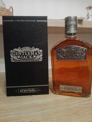 Jack Daniels  TIME PIECE  with Paper Seal 1 Liter 43% Vol  EU Vers. Very rare A