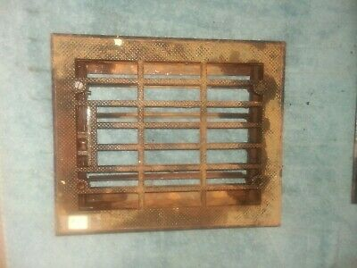 "Antique Vintage Art Deco Heat Register Grate Metal for Opening 8"" x 10""  NICE!"