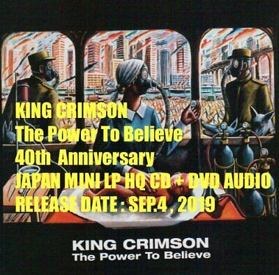 KING CRIMSON The Power To Believe 40th JAPAN MINI LP HQ CD + DVD AUDIO