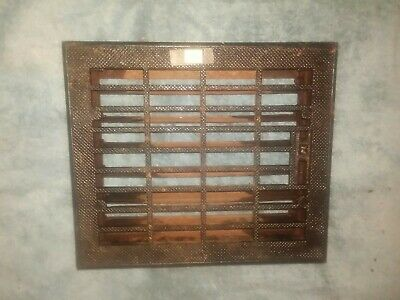 "Antique Vintage Art Deco Heat Register Grate Louvers Opening 10"" x 12"" 3 avail 3"