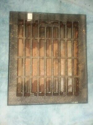 "Antique Vintage Art Deco Heat Register Grate Louvers Opening 10"" x 12"" 3 avail 4"