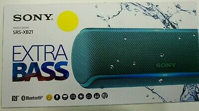 Sony SRS-XB21 Portable Wireless Waterproof Speaker with Extra Bass - Blue