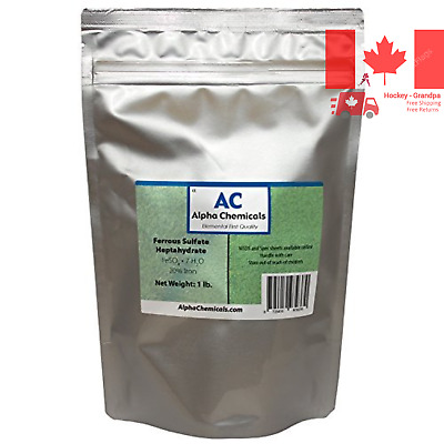 Ferrous Sulfate Heptahydrate - FeSO4*7H2O - 20% Iron - Very Soluble - 1 Pound...