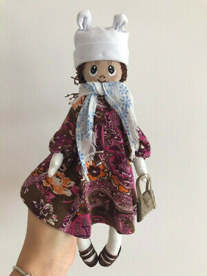 Handmade doll, materials : textile , not used