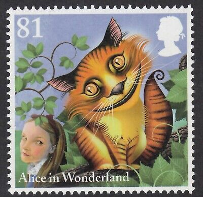 Alice In Wonderland - The Cheshire Cat Illustrated On 2015  Unmounted Mint Stamp