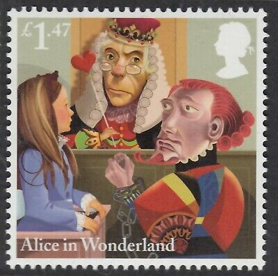 Alice In Wonderland - In Court - Illustrated On 2015 Unmounted Mint Stamp