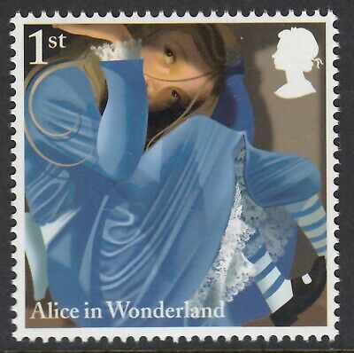 Alice In Wonderland - In Rabbit's House Illustrated On 2015 Unmounted Mint Stamp