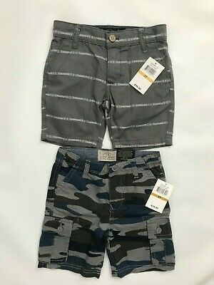Lucky Brand toddler boys blue/gray camouflage cargo shorts size 3T--MSRP $34.50