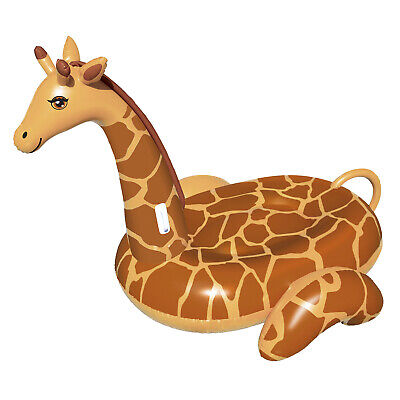 Swimline 90710 April The Giraffe Inflatable PVC Giant Ride On Pool Float, Brown